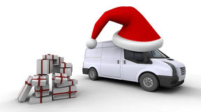 Christmas delivery van Royalty Free Stock Photos