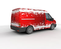 Christmas delivery van Stock Photography