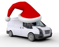 Christmas delivery van Royalty Free Stock Image