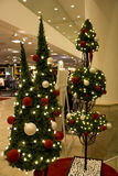 Christmas in department store Royalty Free Stock Images