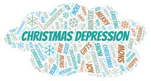 Christmas Depression word cloud stock illustration