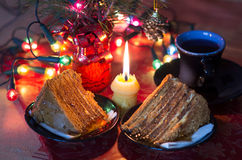 Christmas desert Royalty Free Stock Photography