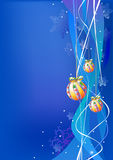 Christmas design. Merry christmas illustration with new year balls: design elements ready for your text Stock Images