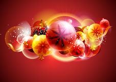 Christmas design. Red Christmas balls. New year Royalty Free Stock Photo