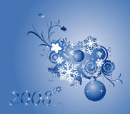 Christmas design. Collection of shiny Christmas balls; design elements ready for your text Royalty Free Stock Image