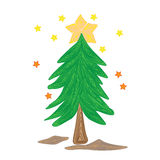 Christmas Tree vector cartoon illustration abstract design vector silhouette Royalty Free Stock Image