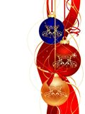 Christmas_design. Three color christmas ball on white background vector illustration