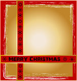 Christmas Design. With background and frame Stock Images