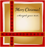 Christmas Design. With background and frame Royalty Free Stock Images
