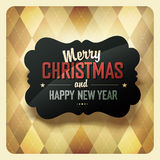 Christmas Design On Argyle Background. Stock Image