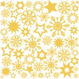 Christmas design background with golden stars and snowflakes, st. Ock vector illustration, eps 10 stock illustration