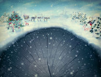 Christmas design -  Christmas valley Stock Photo