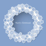 Christmas design with decorative snowflakes Stock Photos