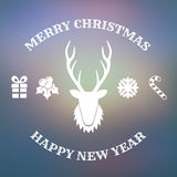 Christmas design with deer Royalty Free Stock Image