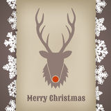 Christmas design with deer Stock Photography