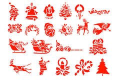 Christmas Design Elements. Color red Stock Illustration