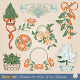 Christmas design elements Royalty Free Stock Images