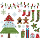 Christmas Design Elements Collection Stock Image