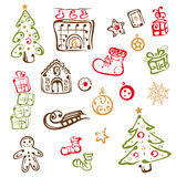 Christmas design elements. Colorful christmas design elements, vector set Stock Photography