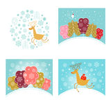 Christmas design elements and New Year greetings Stock Photos