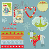 Christmas Design Elements - for scrapbook Royalty Free Stock Photo