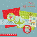 Christmas Design Elements - for scrapbook Royalty Free Stock Images