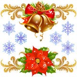 Christmas design elements set 2 Royalty Free Stock Photos
