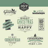 Christmas design elements Stock Photos