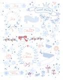 Christmas design elements set. EPS 10.  No Royalty Free Stock Image
