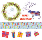 Christmas design elements set Stock Photo