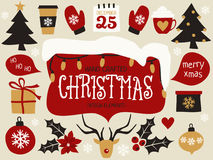 Christmas Design Elements Set Stock Photos