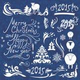 Christmas design elements set Stock Photo