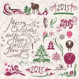 Christmas design elements set Stock Images