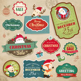 Christmas design elements. Christmas stickers, gift tags and sale icon Stock Photo