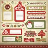 Christmas design elements Royalty Free Stock Image