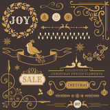 Christmas design elements. Vector set. Stock Photography