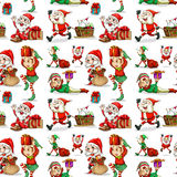 A christmas design with elves Stock Image