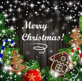 Christmas  design with gingerbread cookies Royalty Free Stock Photo