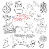 Christmas design. Hand drawn sketch. Royalty Free Stock Photo