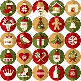 Christmas design icons set. happy new year card.. Royalty Free Stock Image