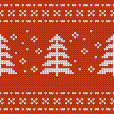 Christmas Design jersey textur with pine treese Stock Photography
