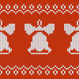 Christmas Design jersey texture bells Royalty Free Stock Photo