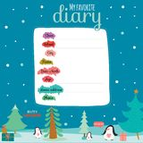 Christmas design for notebook, diary, organizers Royalty Free Stock Photos