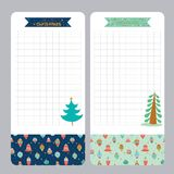 Christmas design for notebook, diary, organizers Royalty Free Stock Images
