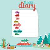 Christmas design for notebook, diary, organizers Stock Images