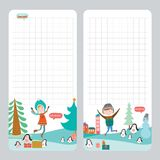 Christmas design for notebook, diary, organizers Royalty Free Stock Image