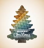 Christmas design. Over  beige background vector illustration Stock Photos
