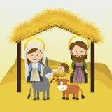 Christmas. Design over sky background vector illustration Stock Photo