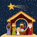 Christmas design. Over sky background vector illustration Royalty Free Stock Photo