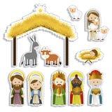 Christmas. Design over white background vector illustration Stock Photos